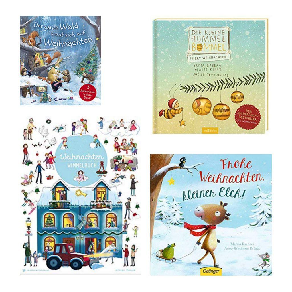 Der ganze Wald freut sich auf Weihnachten, Die kleine Hummel Bommel, Weihnachten Wimmelbuch, Frohe Weihnachten kleiner Elch