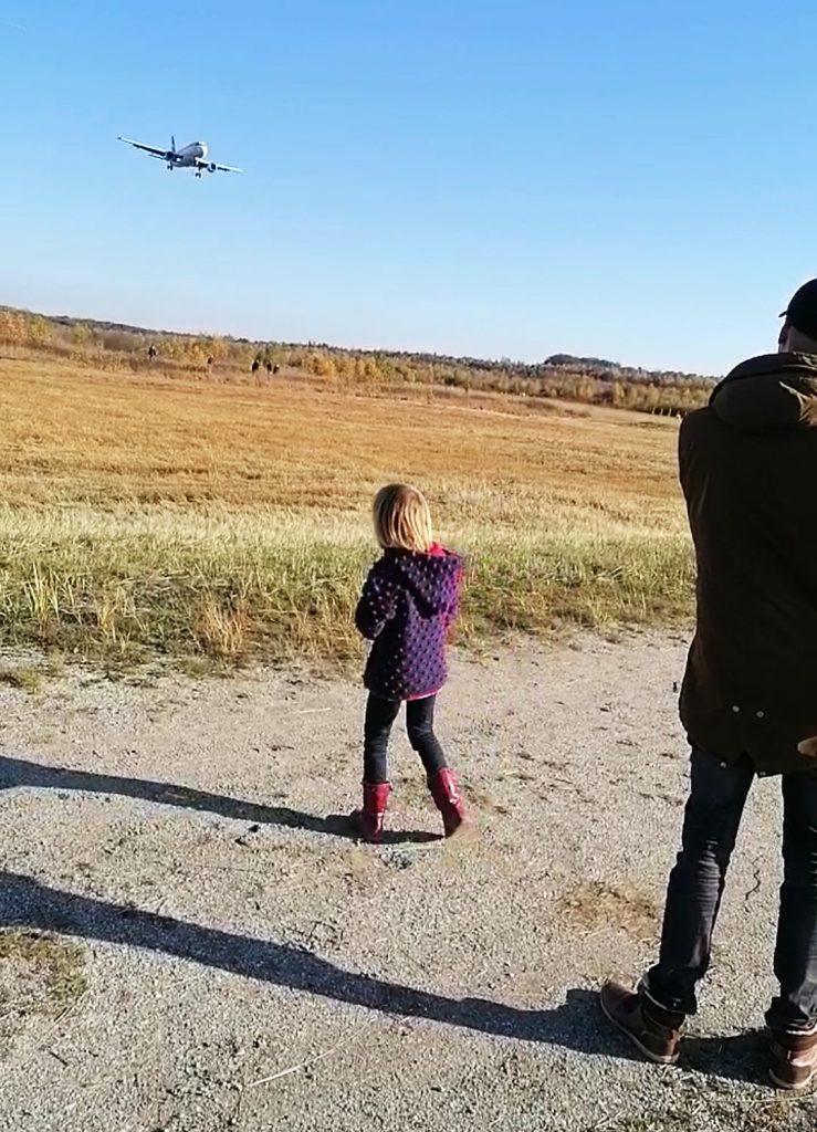 Flugzeuge beobachten